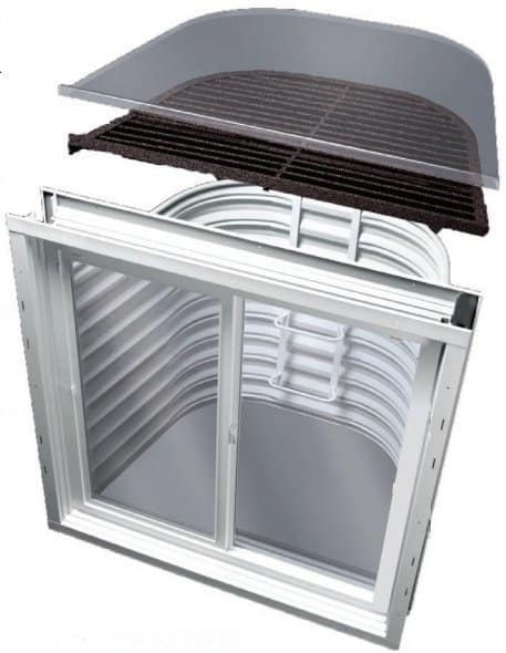 egress windows ottawa - complete with cover and safety grate
