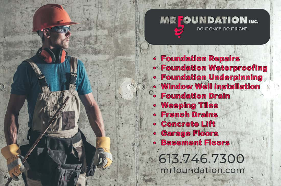 foundation repair ottawa - services provided by Mr. Foundation
